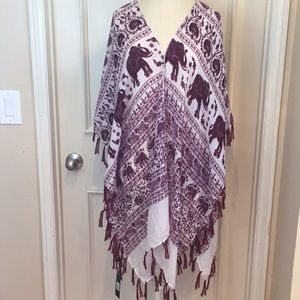 NWT Janice Elephant Print Kimono